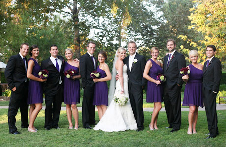 Bridal Party In Purple Wedding Attire460x300