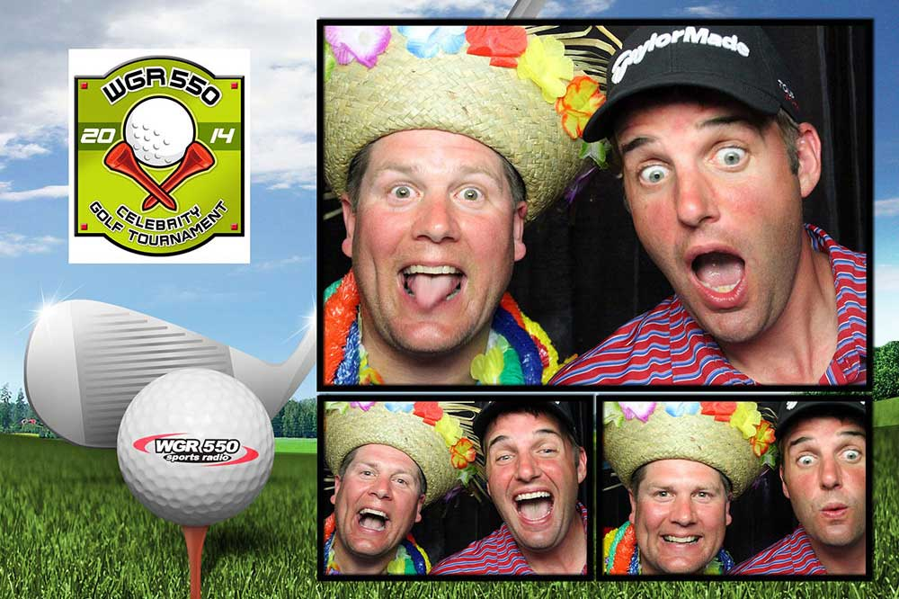 Sample of 4x6 Photo Booth Print with 3 Photos for Golf Outing
